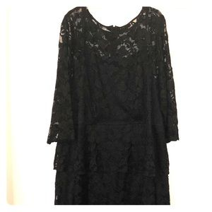 Dresses & Skirts - Black lace plus size gown